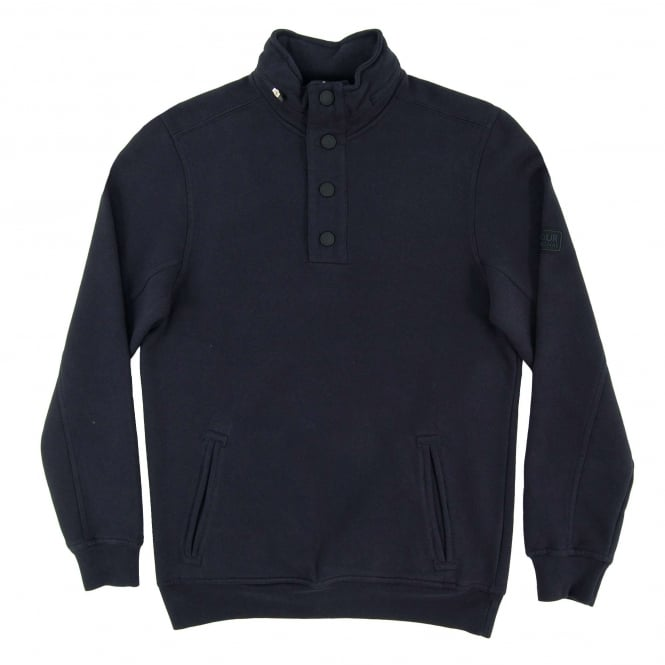 Barbour International Medial Half Button Sweat Navy