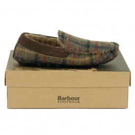 Monty Slippers Olive Check