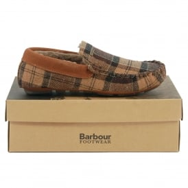 Monty Thinsulate Slippers Camel Tartan