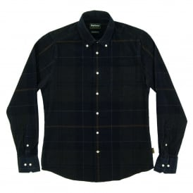 Nauton Check Cord Shirt Forest