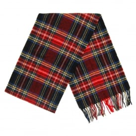 New Check Tartan Scarf Black Stewart