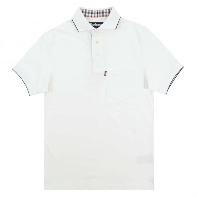 Barbour Newbury Polo White