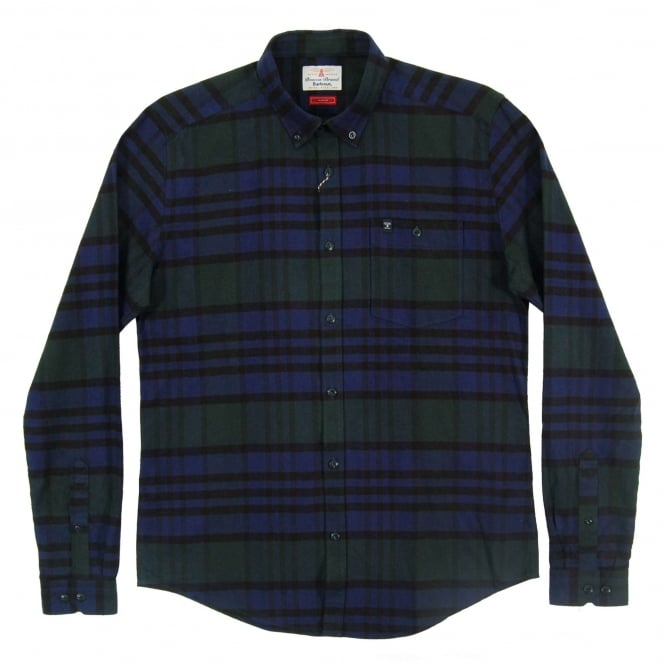 Barbour Newton Check Shirt Forest