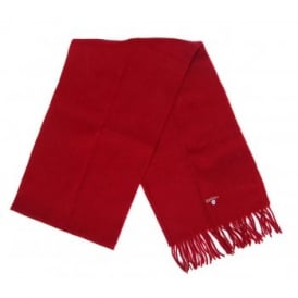 Plain Lambswool Scarf Red