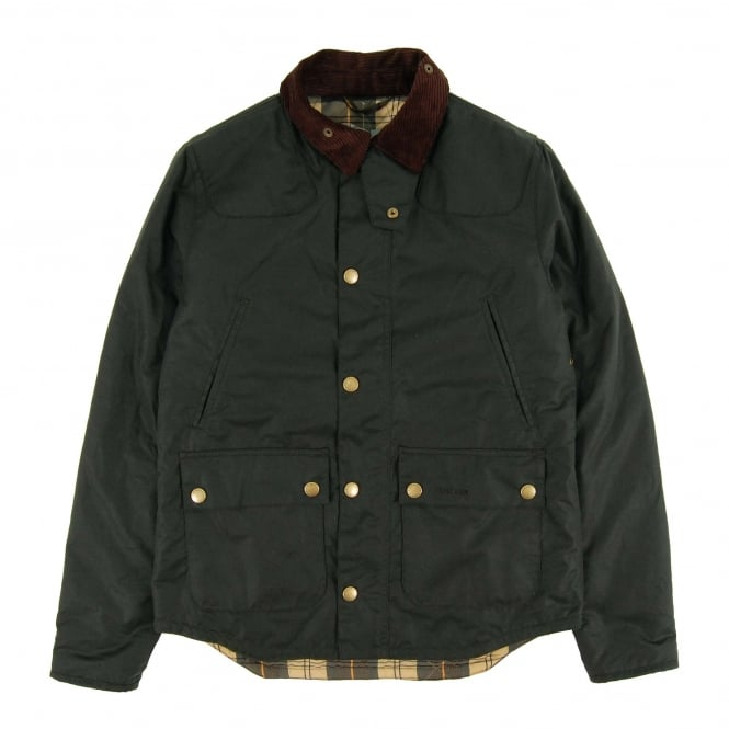 Barbour Reelin Wax Jacket Sage