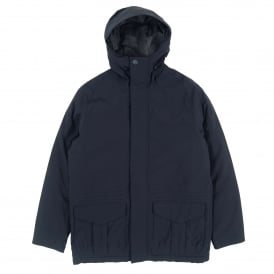 Rivington Hooded Waterproof Jacket Navy