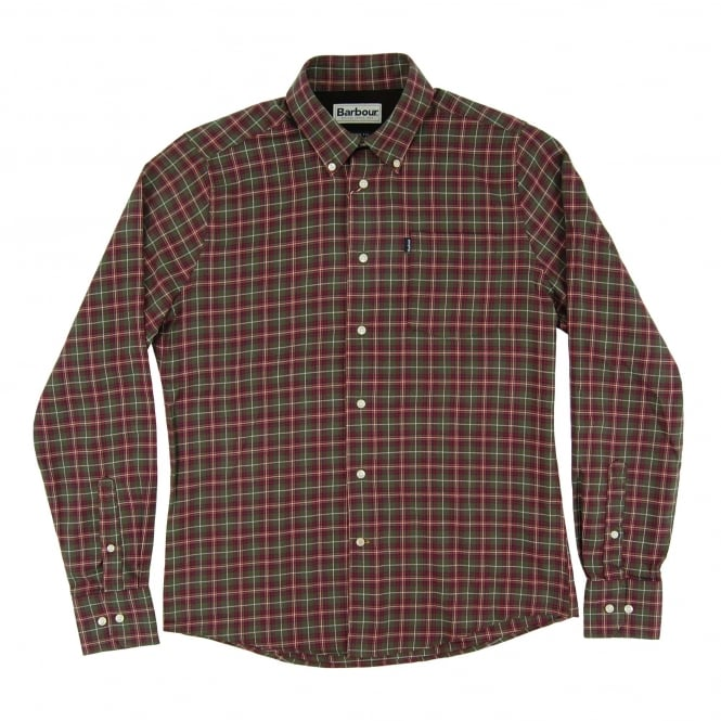 Barbour Rory Check Shirt Olive