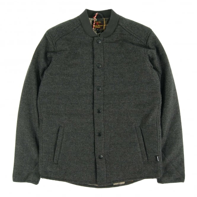 Barbour Ruthwell Wool Overshirt Grey Marl
