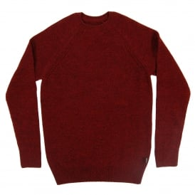 Rydal Crew Jumper Rich Red
