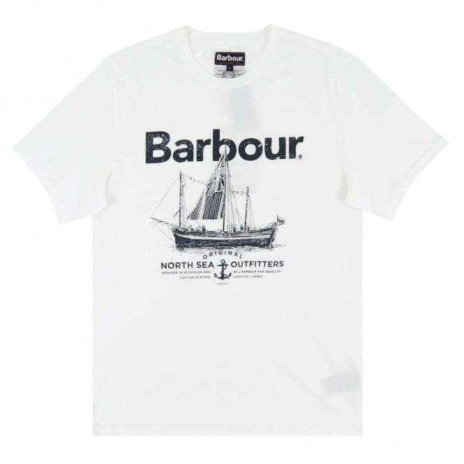 Barbour Sailboat T-Shirt White