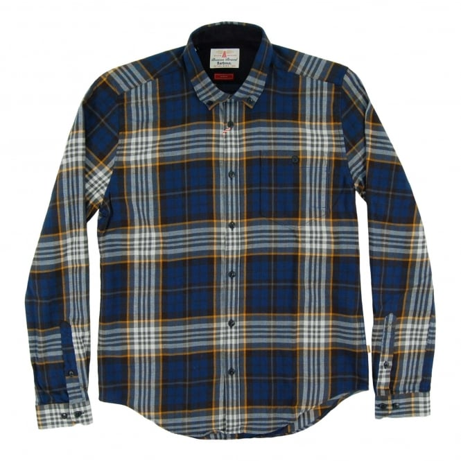 Barbour Sea Mill Check Shirt Navy