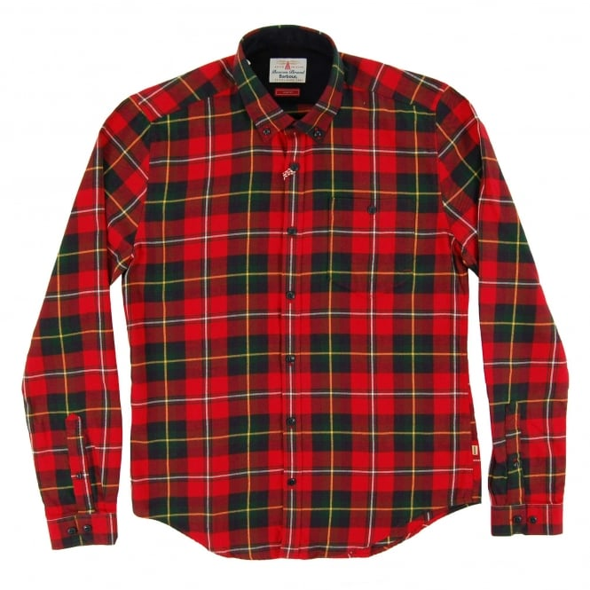 Barbour Sea Mill Check Shirt Rich Red