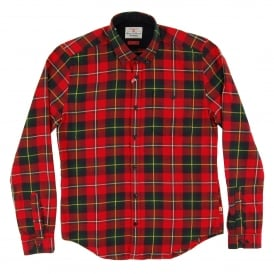 Sea Mill Check Shirt Rich Red