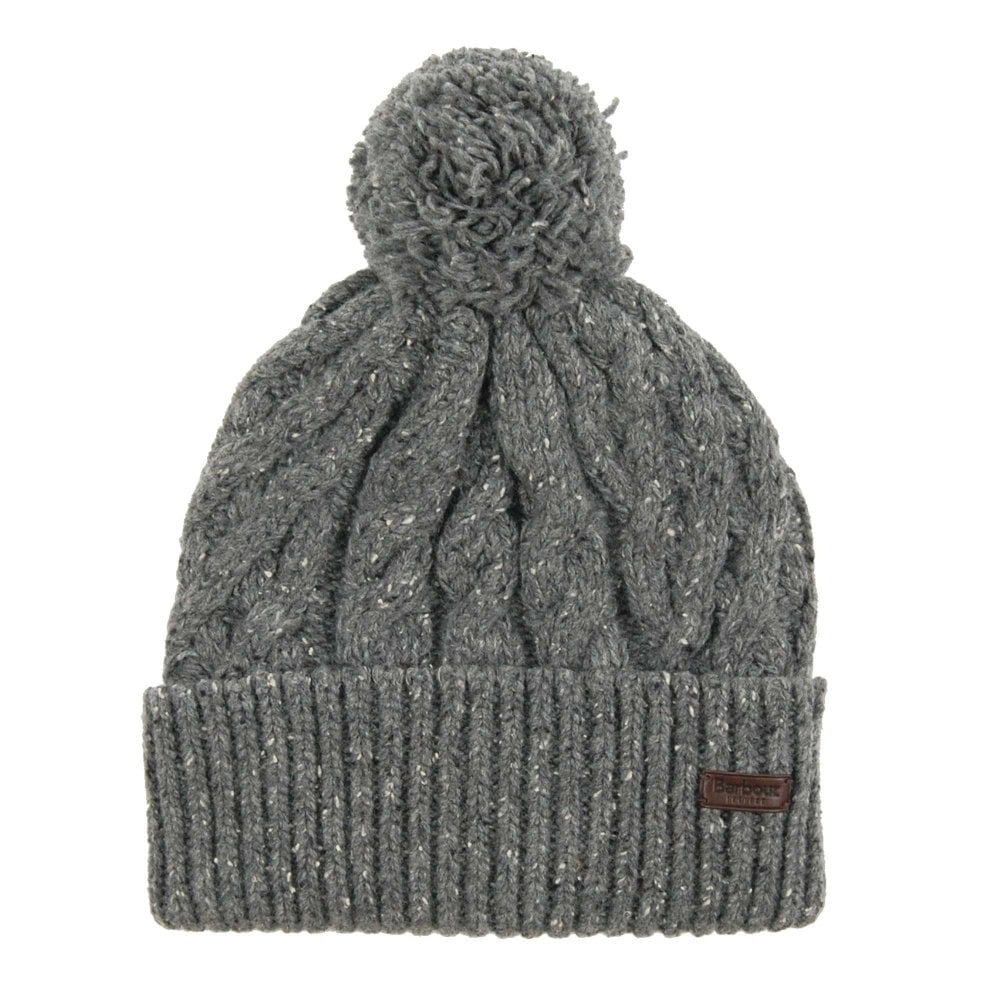76457df0713 Barbour Seaton Pom Beanie Grey - Mens Clothing from Attic Clothing UK
