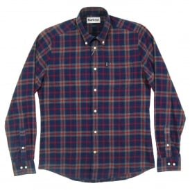 Seth Tailored Check Shirt Grey Marl