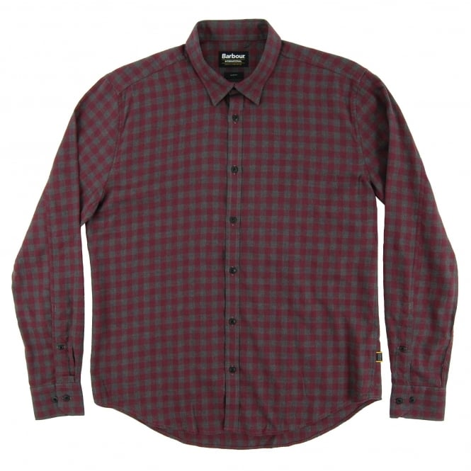 Barbour International Skid Check Shirt Charcoal