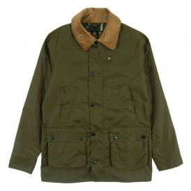 Slim Line Bedale Wax Jacket Archive Olive