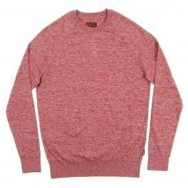 Space Dye Crew Jumper Red Mix