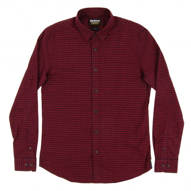 Barbour International Stance Check Shirt Ruby