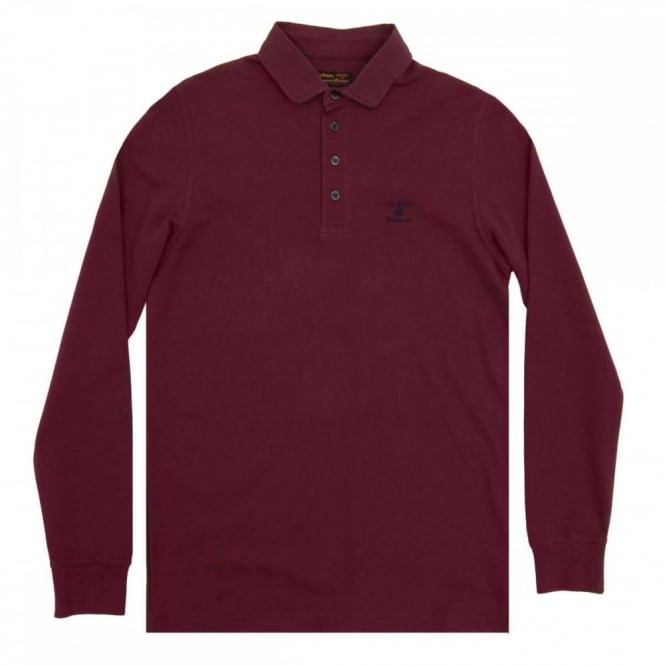 Barbour Standards LS Polo Merlot