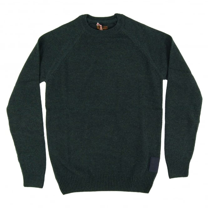 Barbour Staple Crew Jumper Forest Mix