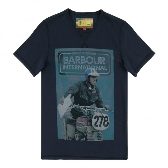 Barbour Steve McQueen™ Control T-Shirt New Navy