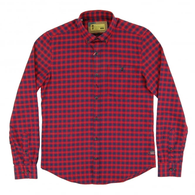 Barbour Steve McQueen™ Invert Check Shirt Rich Red
