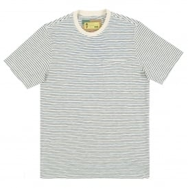 Patrol Pocket Stripe T-Shirt Ecru