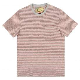 Patrol Pocket Stripe T-Shirt Grey Marl