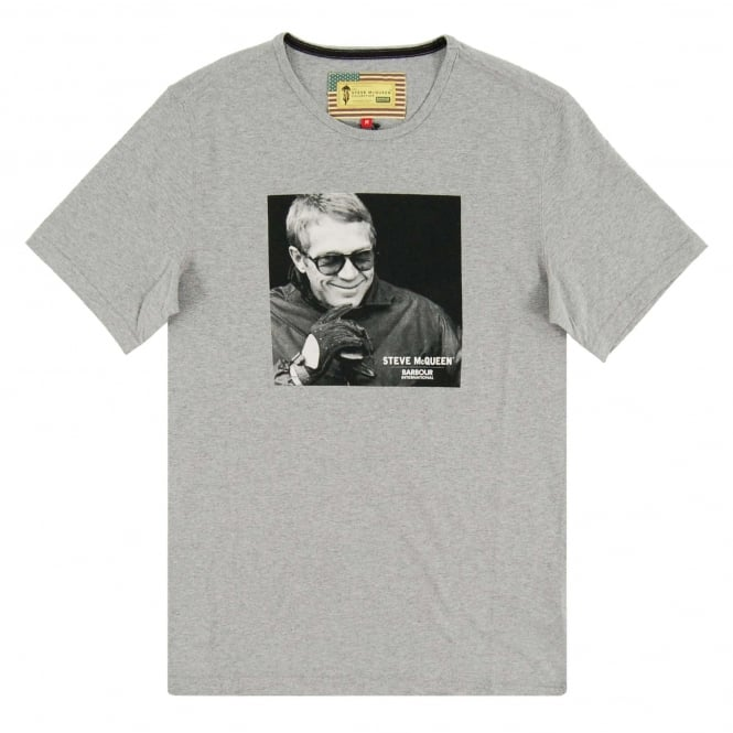 Barbour Steve McQueen™ Smile T-Shirt Grey Marl