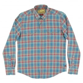 West Check Shirt Chambray