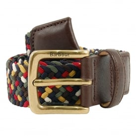 Tartan Coloured Stretch Belt Classic Tartan