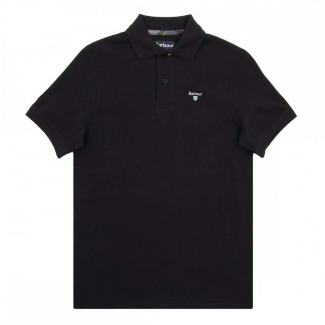 Barbour Tartan Pique Polo Black