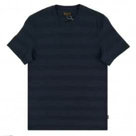 Textured Stripe T-Shirt Navy