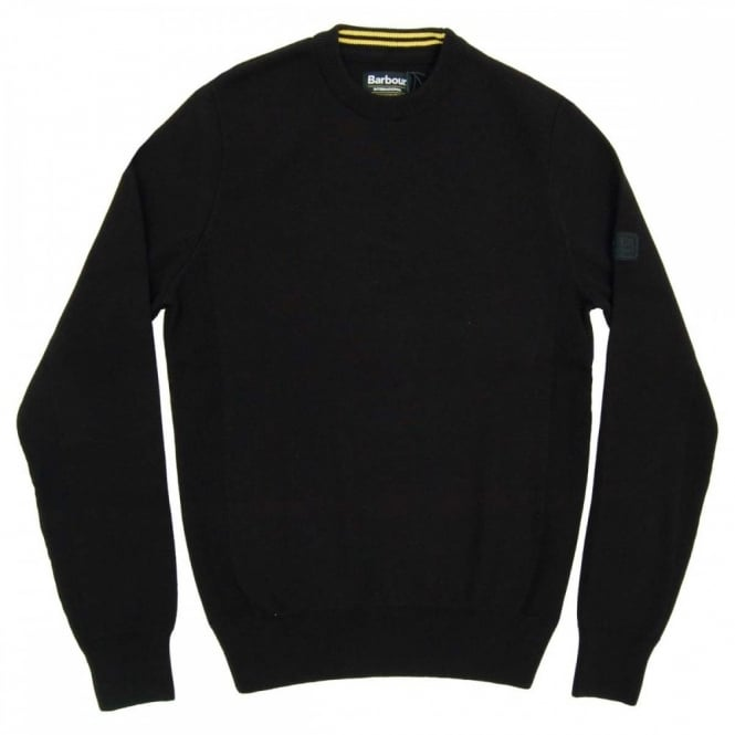 Barbour International Throttled Crew Jumper Black