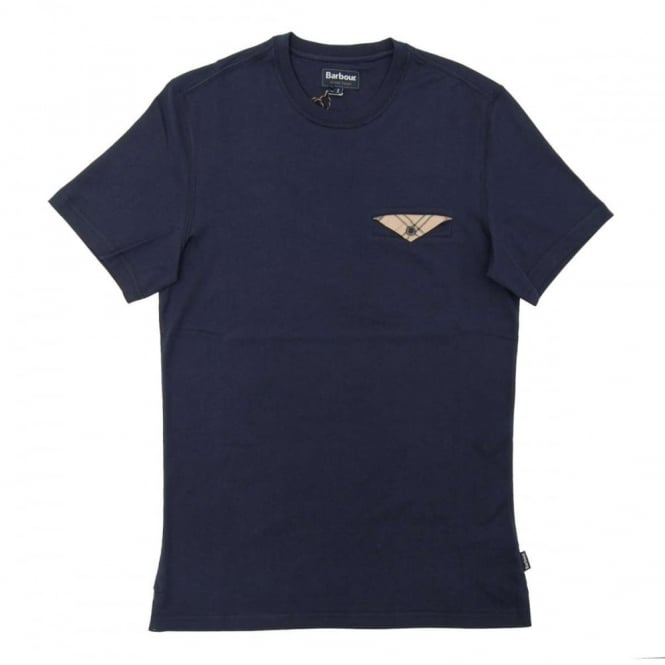 Barbour Walshaw Pocket T-Shirt Navy