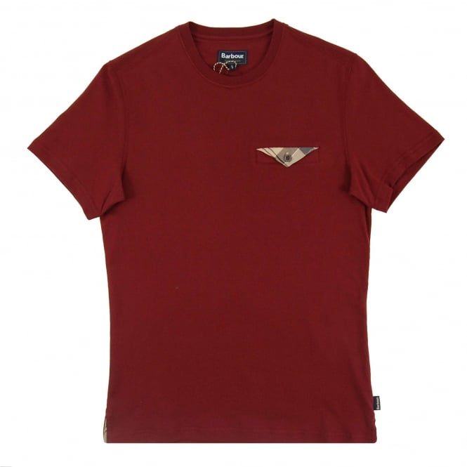 Barbour Walshaw T-Shirt Ruby