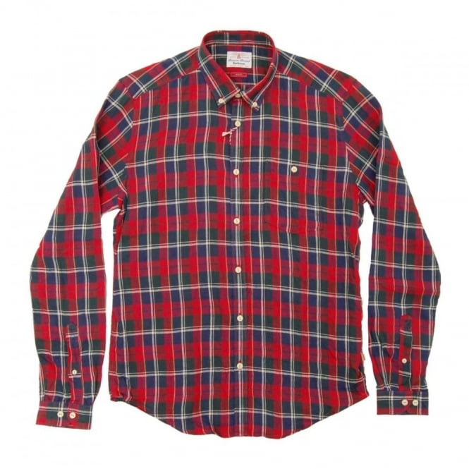 Barbour Williams Check Shirt Rich Red