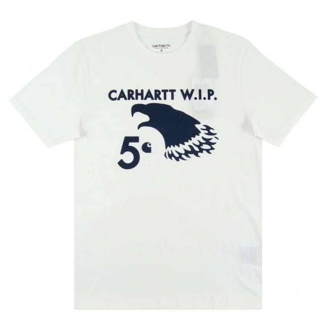 Carhartt 5 Cent Eagle T-Shirt White Navy