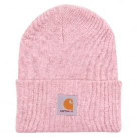 Acrylic Watch Hat Soft Rose Heather