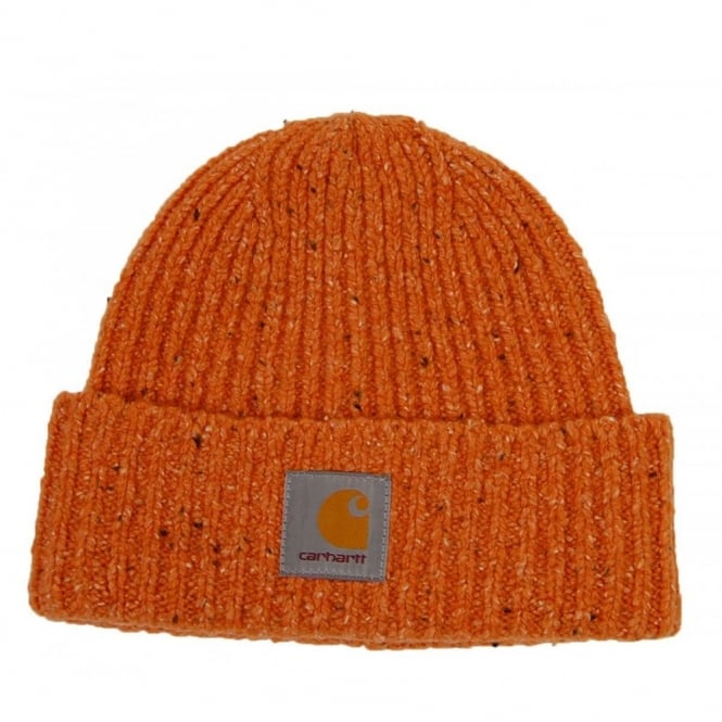 Carhartt Anglistic Beanie Cadmium Heather - Mens Clothing from Attic ... e0c1daf8d55