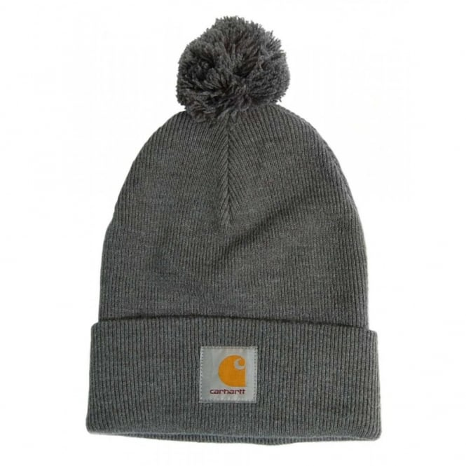 Carhartt Bobble Watch Cap Dark Grey Heather