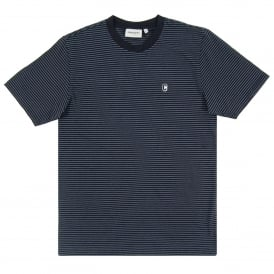Bounty Prior T-Shirt Stripe Dark Navy Stone Blue