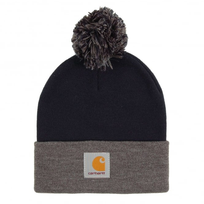 Carhartt Britt Beanie Navy Dark Grey Heather