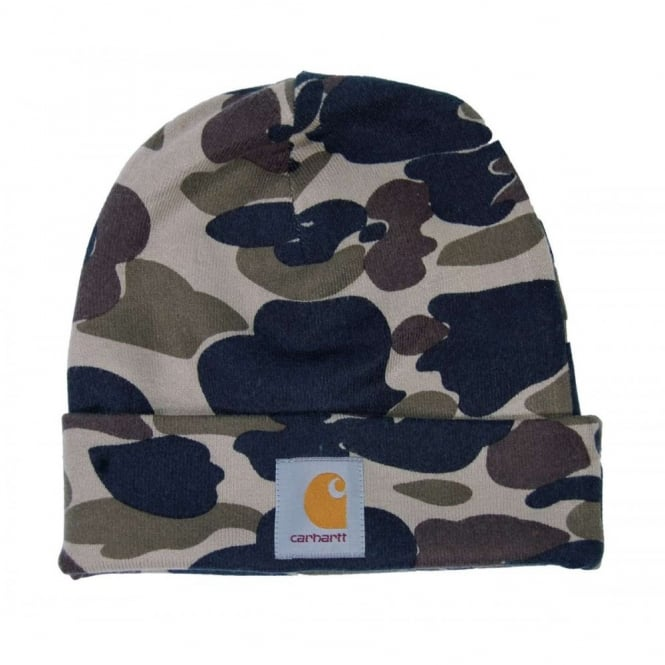 cdcd19fc85b Carhartt Camo Beanie Camo Isle - Mens Clothing from Attic Clothing UK