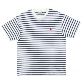 Champ T-Shirt Stripe Blue White