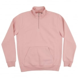 Chase Neck Zip Sweatshirt 13oz Soft Rose
