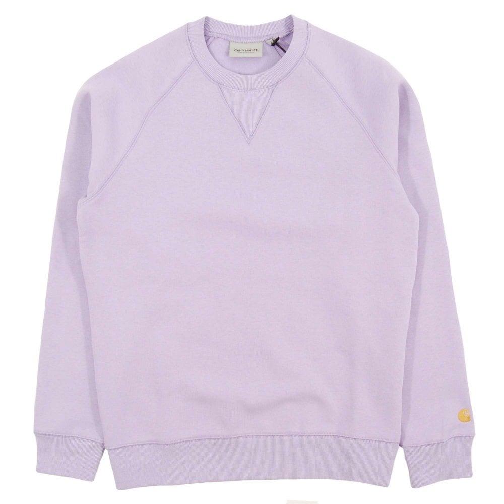92d76b8cc6d Carhartt Chase Sweatshirt 13oz Soft Lavender Gold - Mens Clothing ...