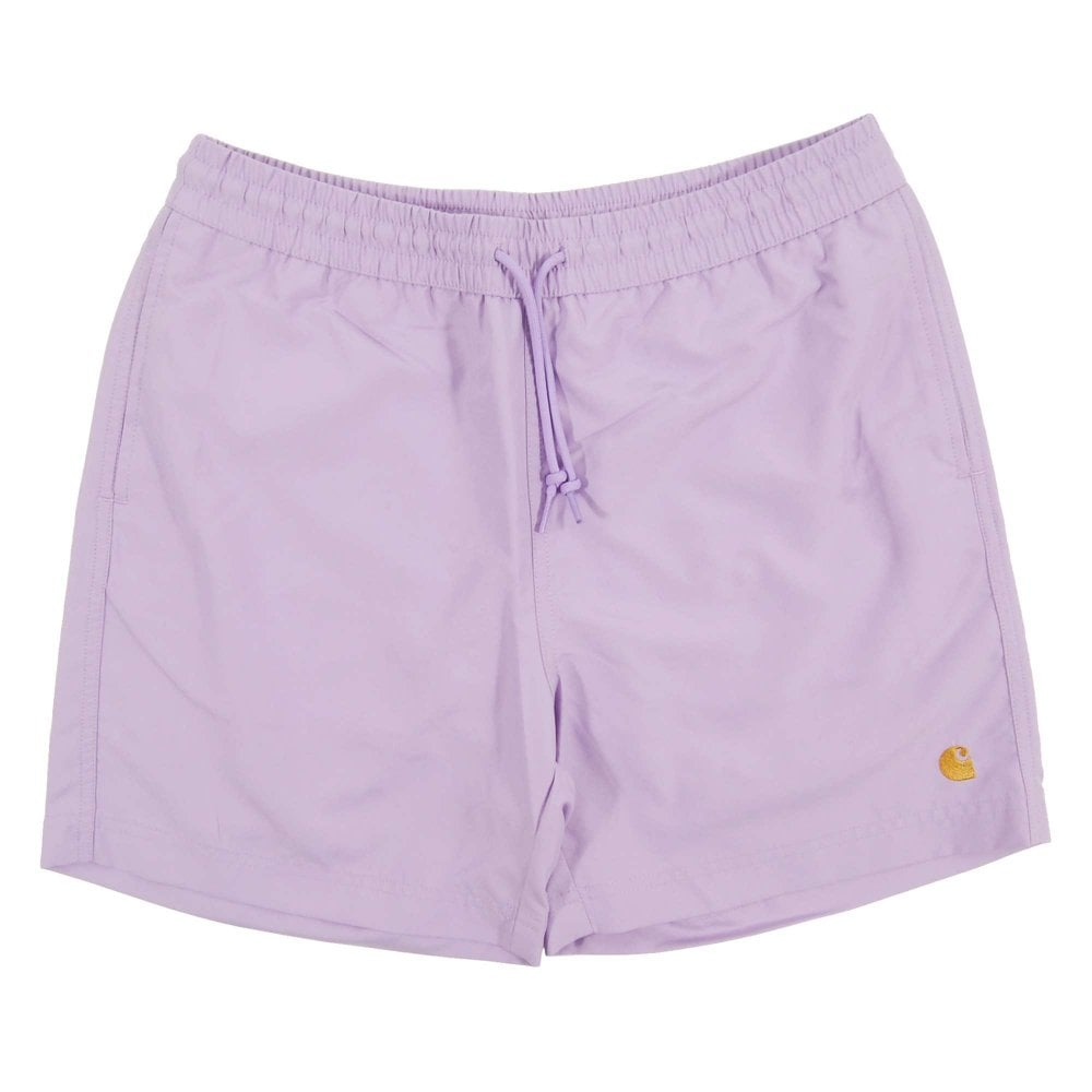 31352689d6c82 Carhartt Chase Swim Shorts Soft Lavender Gold - Mens Clothing from ...
