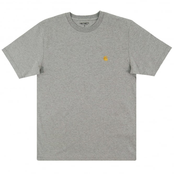 Carhartt Chase T-Shirt Grey Heather Gold